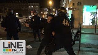 Violents heurts lors d'un rassemblement pour Liu Shaoyo / Paris - France 29 mars 2017