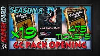 OPENING *19* GRAND CHALLENGE PACKS | Gothic? Neon? Shattered? HAHA RIP!! WWE SuperCard Season 5 |