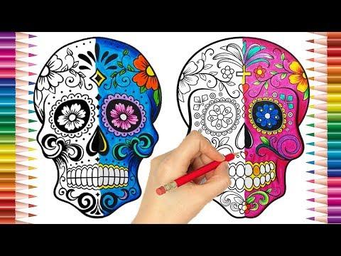 Desenho Caveiras Mexicanas Desenhos Para Pintar Lapis De Cor