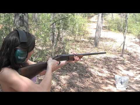 Val shoots the 16 Gauge Winchester Model 37
