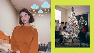 Covering my stress with makeup + OUR TREE IS UP~ 🎄