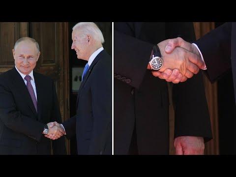 Body language expert breaks down the Putin-Biden handshake