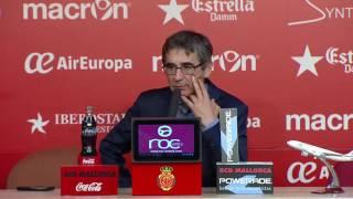 Rueda de prensa de Fernando Vázquez tras el RCD Mallorca (0-1) Córdoba CF