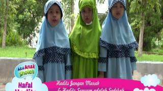 Dunia Anak Shaleh: Hafalan Hadis Jangan Marah & Senyum Sedekah