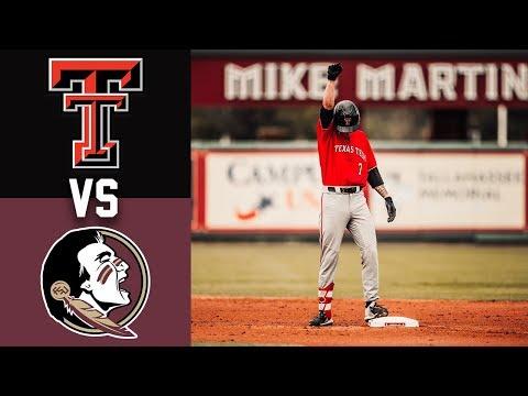 #3 Texas Tech Vs #14 Florida State Highlights | Game 2 | 2020 College Baseball