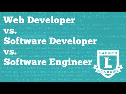 Job Titles In Software: Web Developer Vs. Software Developer Vs. Software Engineer