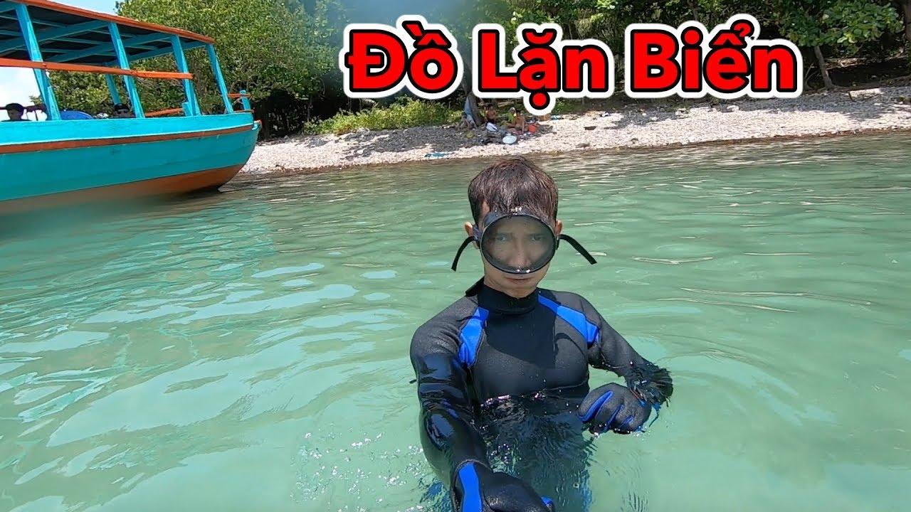 Lâm Vlog – Dùng Thử Bộ Đồ Lặn Biển Giá Rẻ