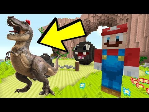 Minecraft Switch - Super Mario Series - T-REX MARIO ODYSSEY! [DINOSAUR] [221]