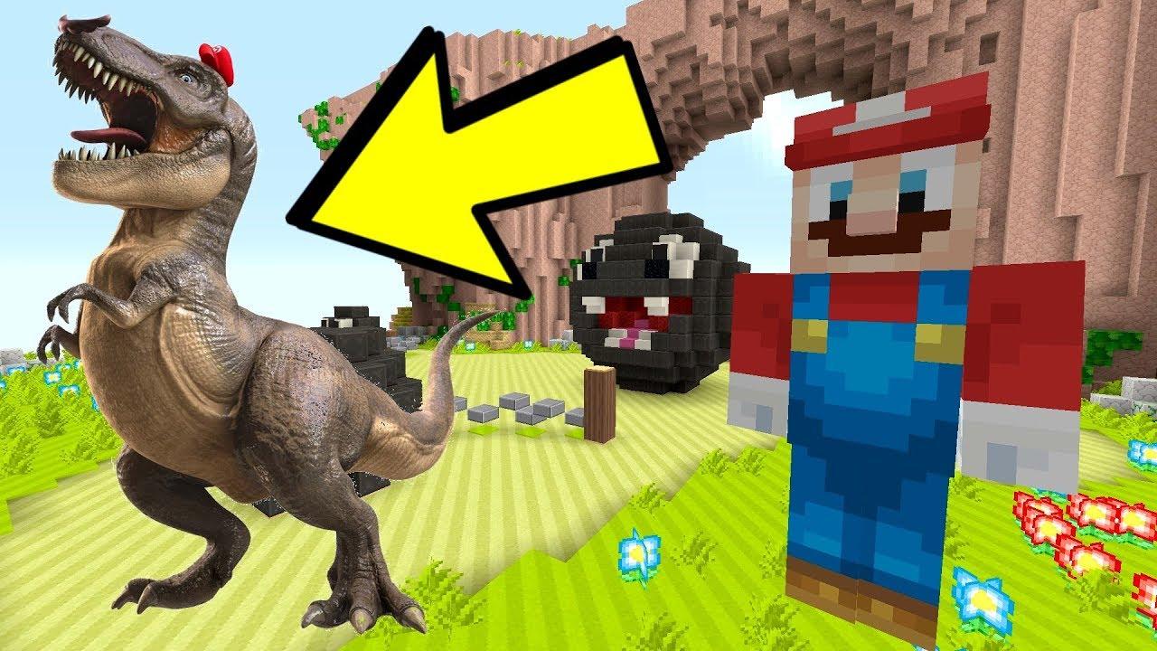 Minecraft Switch - Super Mario Series - T-REX MARIO ODYSSEY! [DINOSAUR] [221]
