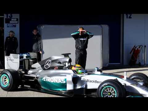 Lewis Hamilton Mercedes Driver Upbeat Despite Testing Crash   28 January 2014 MUST SEE