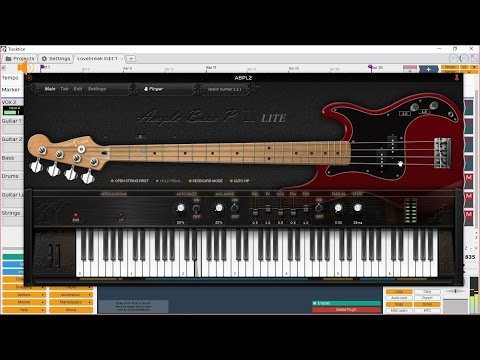 Let's Create A Song With AmpleSound Virtual Instruments and Tracktion T5 DAW - Part 2