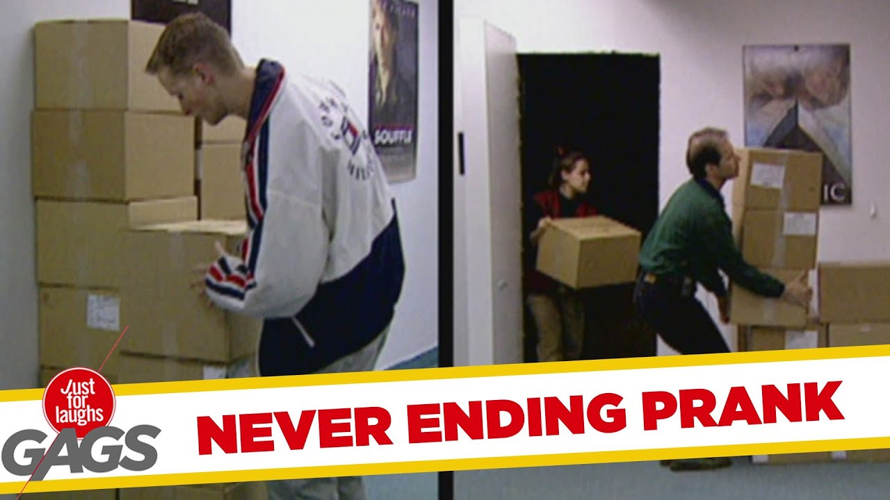 Never ending boxes Prank