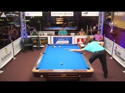 Stuttgart Open 2015, No. 12, Sebastian Ludwig vs. Thomas Gollowitsch, 10-Ball, Pool-Billard