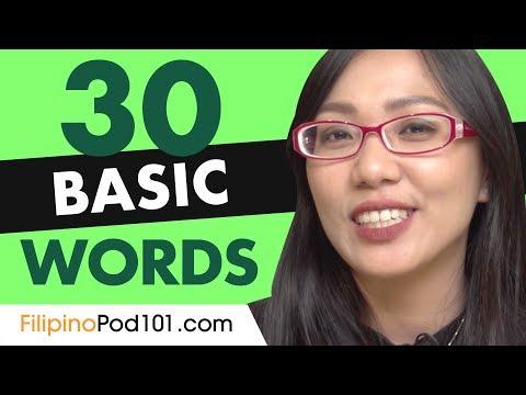 30 Beginner Filipino Words (Useful Vocabulary)