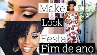 Maquiagem e Look para festa de fim de Ano - Luany Cristina