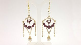 Beading4perfectionists : Chain earrings beading tutorial