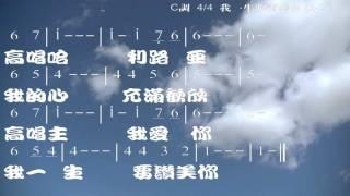 我一生要讚美你 詞,曲: 游智婷 伴奏版 簡譜 樂器 中文字幕