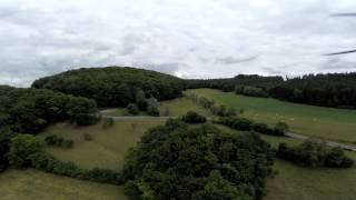 Bocht bij Ermsdorf in Luxembourg (drone)