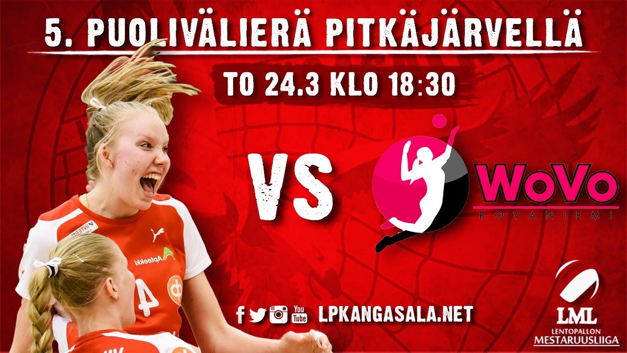 LIVE: LP Kangasala - WoVo, 5. puolivälierä 24.3.2016 - YouTube