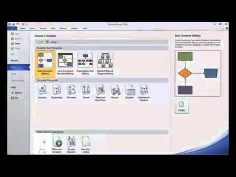 Intro To Creating Basic Process Flow Diagrams In Visio 2010 Youtube