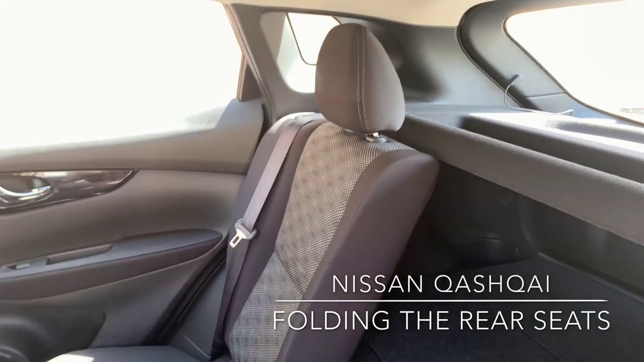 Folding The Rear Seats In The Nissan Qashqai Know Your Nissan