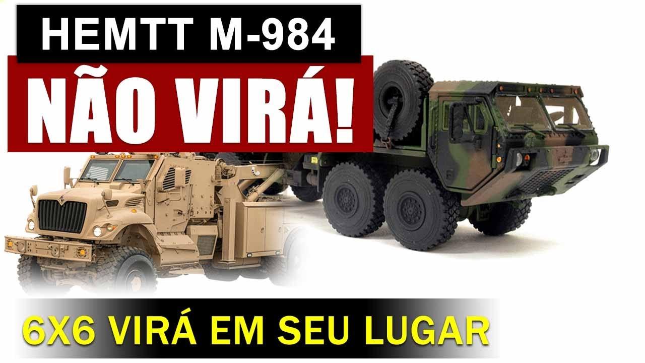 Brasil não receberá mais o M-984 8x8, mas virá um 6x6 em seu lugar