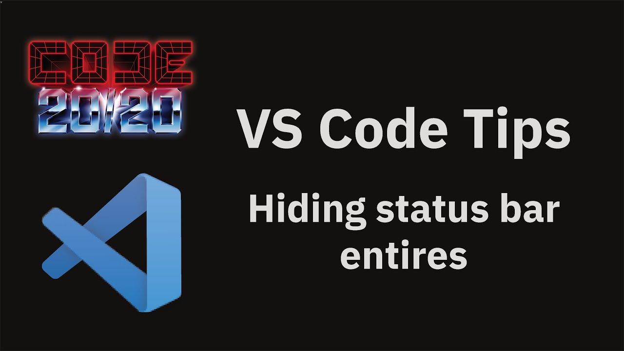 Hiding status bar entires