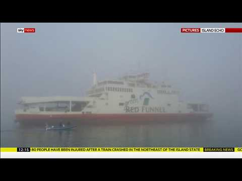 Ferry runs aground after hitting yachts in fog (UK) - Sky Ne