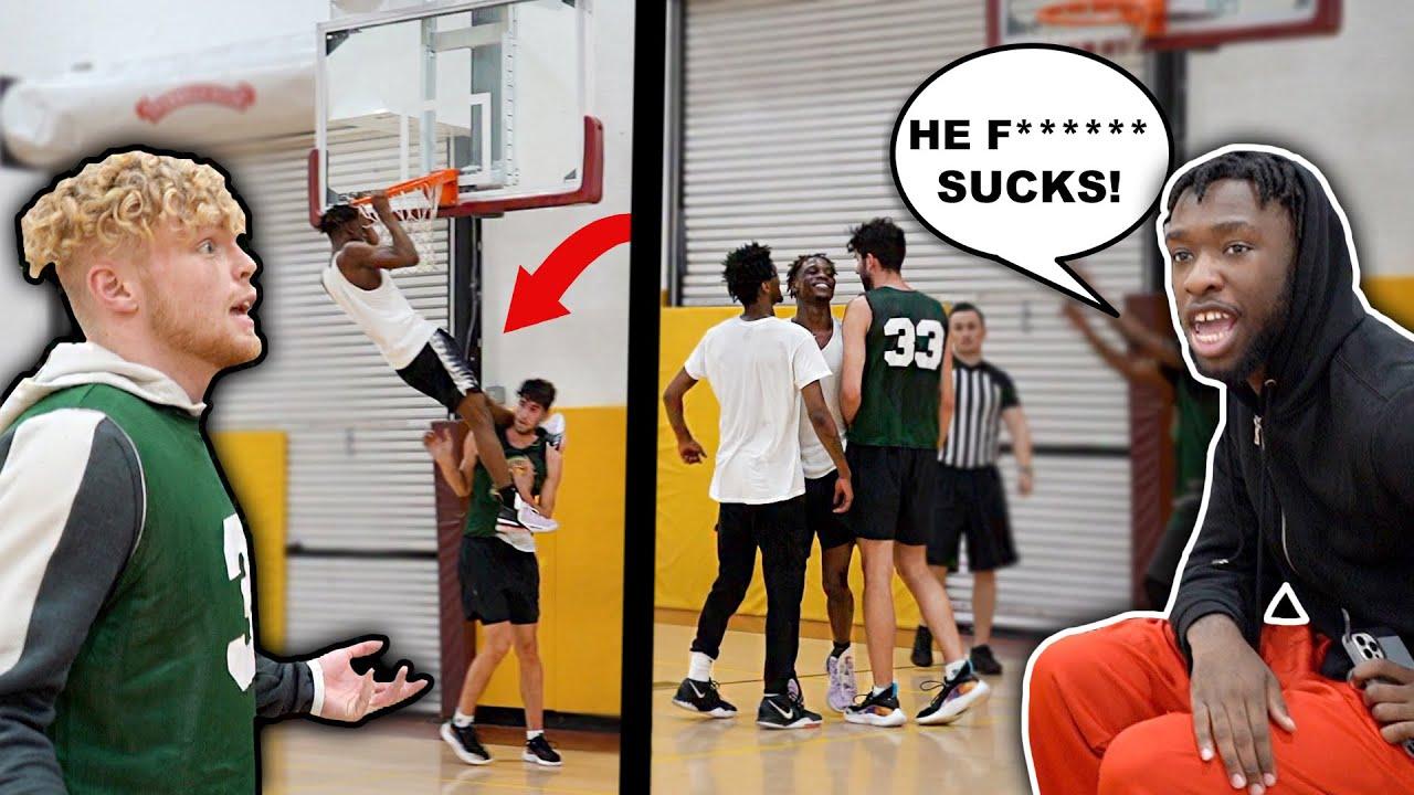 Sideline HATER Kept Talking S*** & I Went OFF! 5v5 Men's League Basketball!