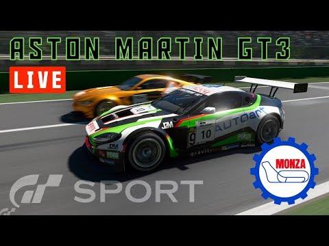 GT Sport - Aston Martin V12 Vantage GT3  - Circuito de Monza