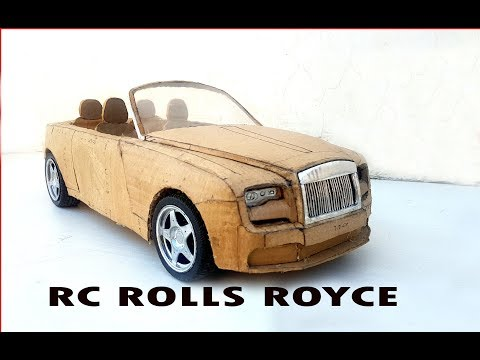 Super Rolls Royce Rc Toy Car || How to Make a Cardboard Car DIY  at Home