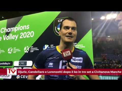 Djuric, Candellaro e Lorenzetti dopo il match di Champions a Civitanova