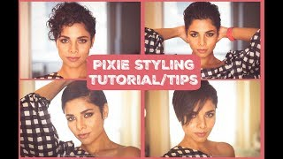 How to style growing out PIXIE/ SHORT HAIR STYLING TUTORIAL