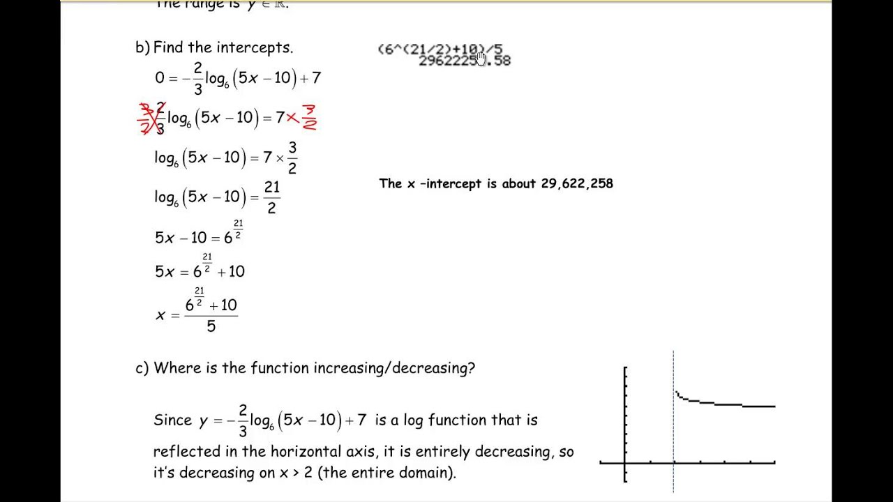 How To Solve Equations With Logarithmic Exponential