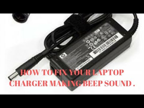 laptop charger beep sound fix - YouTube