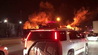 7 alarm fire at MARCAL Paper Products plant in Elmwood Park NJ.