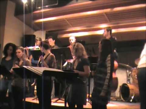Manhattan School of music Vocal Jazz group led by Darmon Meader and Peter Eldridge
