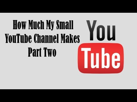 How much money does my small YouTube channel make | Part Two