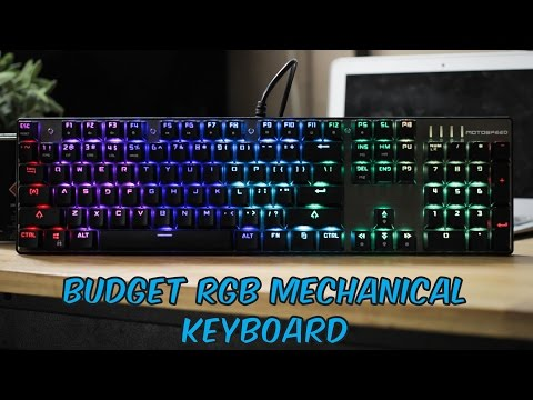 MOTOSPEED Inflictor CK104 RGB Gaming Mechanical Keyboard - Unboxing & Review