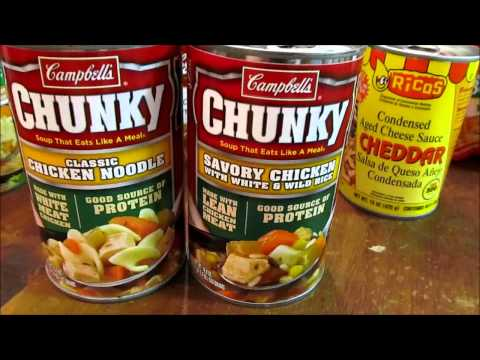 Survival Gear - buying canned goods