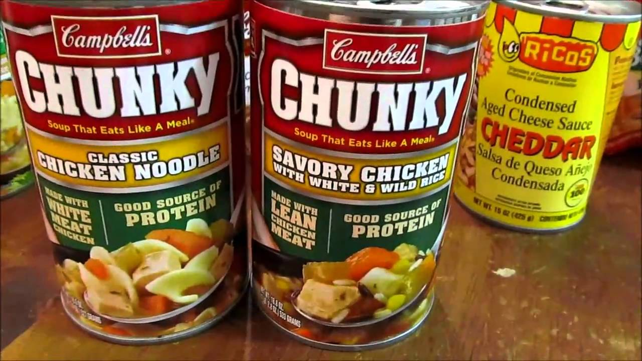 Survival Gear Buying Canned Goods Youtube