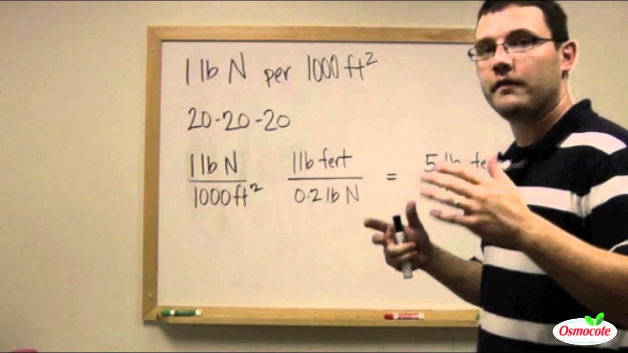 How To Calculate Fertilizer Rates Youtube [ 720 x 1280 Pixel ]