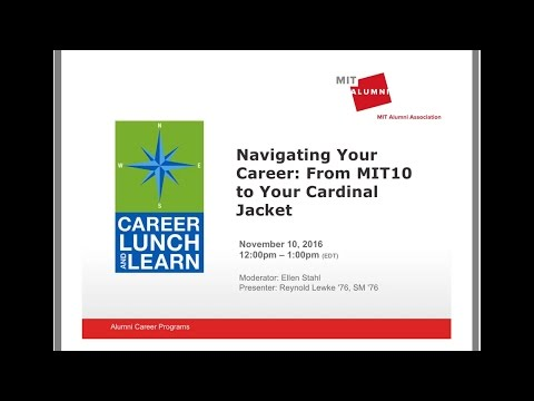 Career Lunch & Learn: Navigating Your Career - From MIT10 to Your Cardinal Jacket