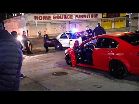 COPS SWARM LA CAR MEETS!  *GUNS DRAWN*