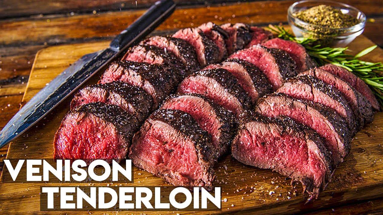 How To Cook Venison Tenderloin Grilled Deer Recipe Youtube