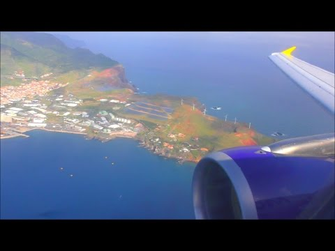 Monarch Airbus A320 Beautiful Approach & Landing Funchal, Madeira