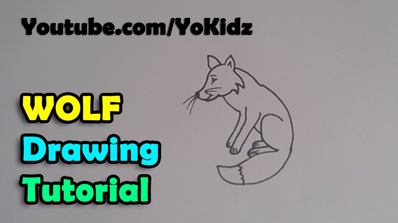 How To Draw Cartoon Wolf For Kids Easy And Simple Youtube