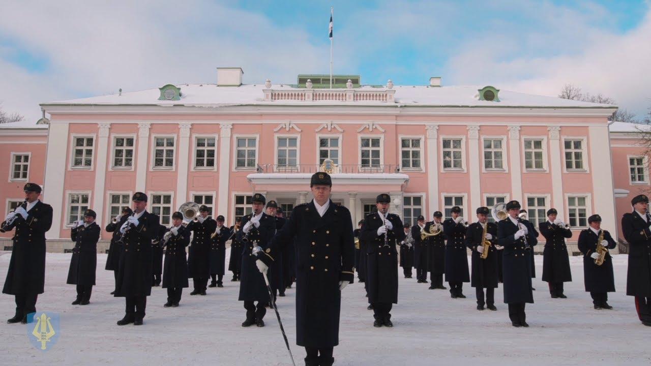 Kaitseväe orkestri tervitus Eesti Vabariigi 103. aastapäeva auks