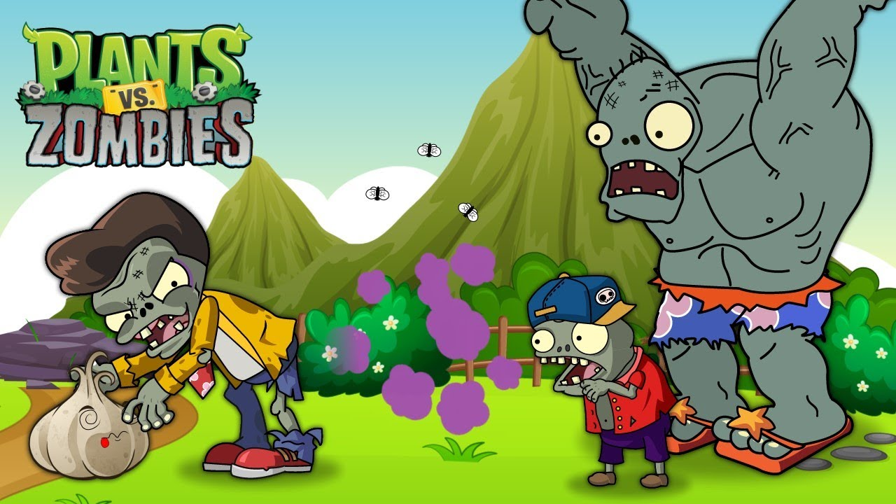 PvZ Creative funny animation 2: Basic Zombie Farts - Most Awkward Moments by Imp & Gargantuar Couple