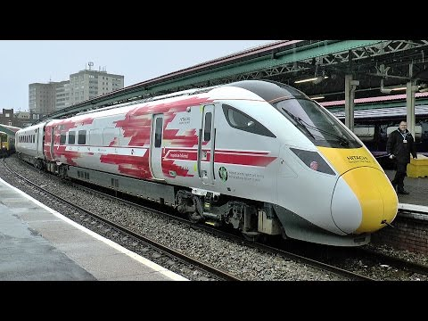 First ever trial run of Hitachi Class 800 IEP to Swansea 20/03/2017.